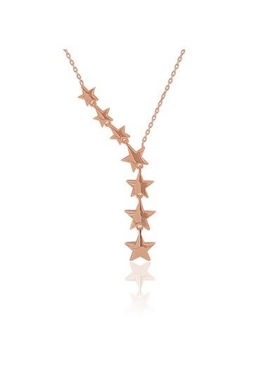 Rose Kuyruklu Yıldız Kolye-Söğütlü Silver